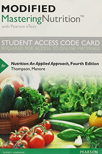 9780321949950: Modified Masteringnutrition with Mydietanalysis with Pearson Etext -- Standalone Access Card -- For Nutrition: An Applied Approach