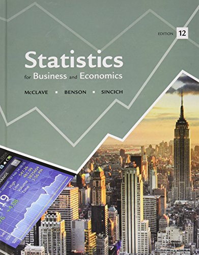 9780321950512: Statistics for Business and Economics, Student's Solutions Manual for Statistics for Business and Economics and MyStatLab for Business Statistics -- ValuePack Access Card (12th Edition)