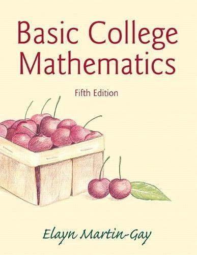 9780321950970: Basic College Mathematics (5th Edition)
