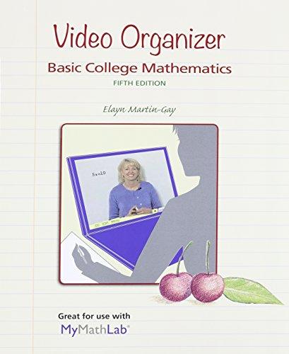 9780321950994: Video Organizer for Basic College Mathematics