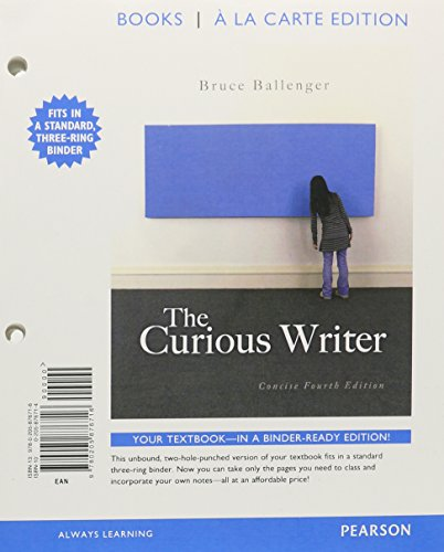 The Curious Writer, Concise Edition, Books a la Carte Plus NEW MyCompLab -- Access Card Package (...