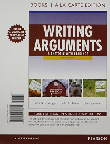Writing Arguments: A Rhetoric with Readings, Books a la Carte Plus NEW MyCompLab with eText -- ...