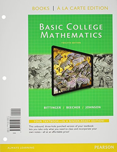 9780321951700: Basic College Mathematics, Books a la Carte Edition, Plus New Mymathlab -- Access Card Package