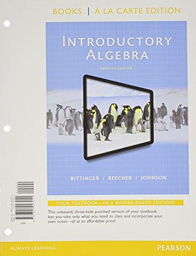 9780321951731: Introductory Algebra, Books a la Carte Edition, Plus MyLab Math -- Access Card Package (12th Edition)