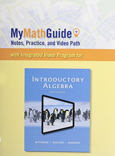 9780321951748: MyMathGuide for Introductory Algebra, Plus MyMathLab -- Access Card Package (12th Edition)