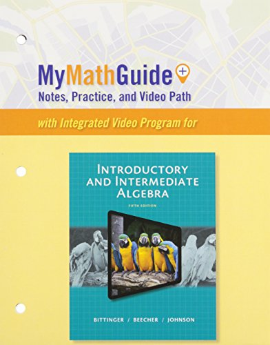 9780321951793: MyMathGuide for Introductory and Intermediate Algebra, Plus MyMathLab -- Access Card Package (5th Edition)