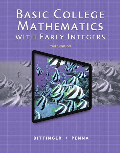 9780321951809: Basic College Mathematics with Early Integers, Plus NEW MyMathLab with Pearson eText -- Access Card Package (3rd Edition)