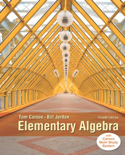 9780321951861: Elementary Algebra, Plus NEW MyMathLab with Pearson eText -- Access Card Package (4th Edition) (Carson Developmental Algebra Series)