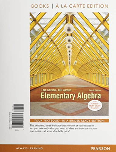 9780321951878: Elementary Algebra, Books a la Carte Edition, Plus MyMathLab -- Access Card Package (4th Edition)
