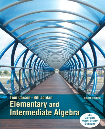 9780321951922: Elementary and Intermediate Algebra, Plus NEW MyLab Math with Pearson eText -- Access Card Package (4th Edition) (Carson Developmental Algebra Series)