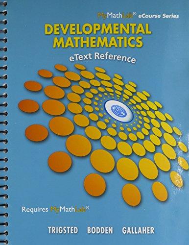 9780321952776: MyMathLab Developmental Mathematics: Prealgebra, Beginning Alg, Intermediate Alg -- Access Card -- PLUS eText Reference