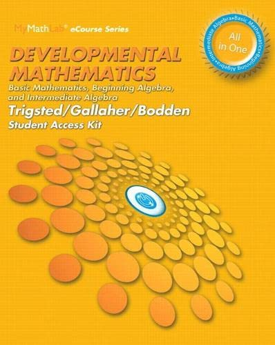 9780321953070: MyMathLab for Developmental Mathematics: Basic Mathematics, Beginning Algebra, Intermediate Algebra -- Access Card