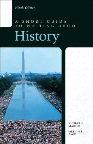 9780321953292: A Short Guide to Writing about History (9th Edition)