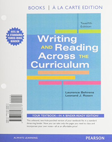 Writing and Reading Across the Curriculum, Books a la Carte Edition Plus NEW MyCompLab -- Access ...