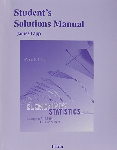 9780321953865: Student's Solutions Manual for Elementary Statistics Using the TI-83/84 Plus Calculator