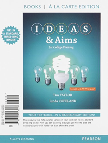 9780321956033: IDEAS & Aims, Books a la Carte Edition