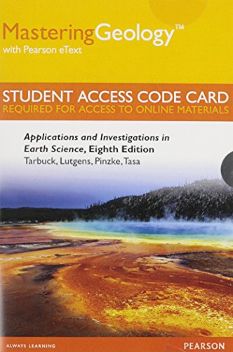 9780321957788: MasteringGeology with Pearson eText -- Standalone Access Card -- for Applications and Investigations in Earth Science (8th Edition)