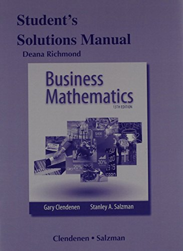 9780321958709: Student's Solutions Manual for Business Mathematics
