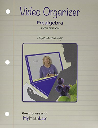 9780321958853: Video Organizer for Prealgebra