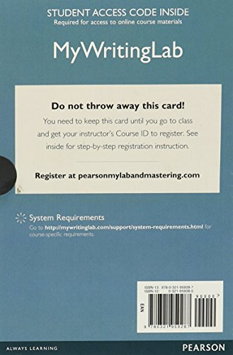 9780321959287: MyWritingLab with Pearson eText -- Standalone Access Card -- for Good Reasons with Contemporary (6th Edition)