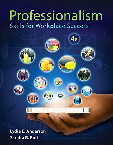 9780321959447: Professionalism: Skills for Workplace Success (4th Edition)