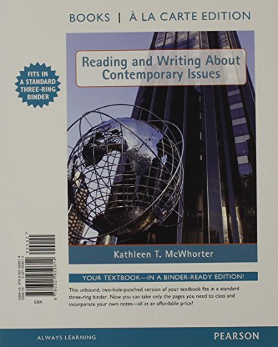 9780321959614: Reading and Writing About Contemporary Issues, Books a la Carte Edition