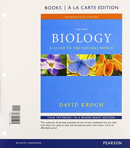 9780321960726: Biology: A Guide to the Natural World Technology Update, Books a la Carte Plus MasteringBiology with eText -- Access Card Package (5th Edition)