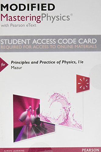 9780321961303: Modified Masteringphysics with Pearson Etext -- Standalone Access Card -- For Principles and Practice of Physics