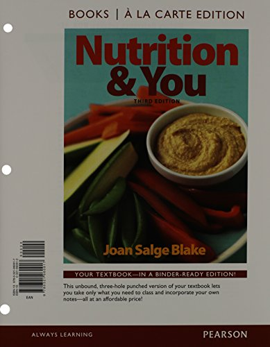 9780321962102: Nutrition & You, Books a la Carte Plus MasteringNutrition with MyDietAnalysis with eText -- Access Card Package (3rd Edition)