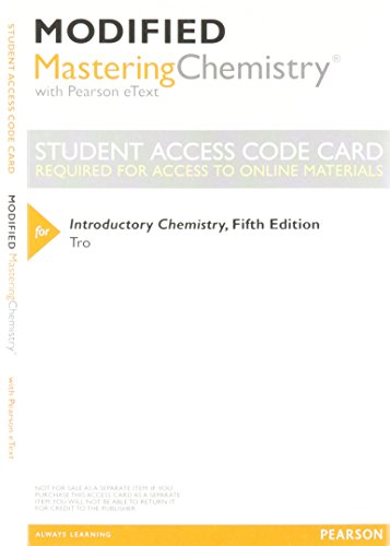 9780321962263: New MasteringChemistry with Pearson Etext -- Valuepack Access Card -- for Introductory Chemistry