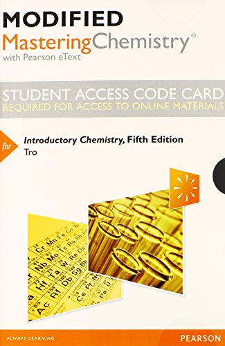 9780321962317: Modified MasteringChemistry with Pearson eText -- Standalone Access Card -- for Introductory Chemistry (5th Edition)