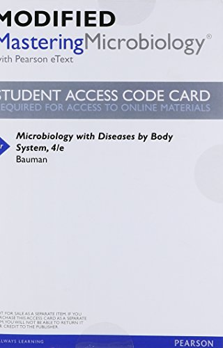 9780321962492: NEW MasteringMicrobiology with Pearson eText -- ValuePack Access Card -- for Microbiology with Diseases by Body System