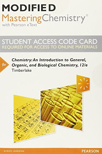 9780321962966: Modified MasteringChemistry with Pearson eText -- Standalone Access Card -- for Chemistry: An Introduction to General, Organic, and Biological Chemistry (12th Edition)