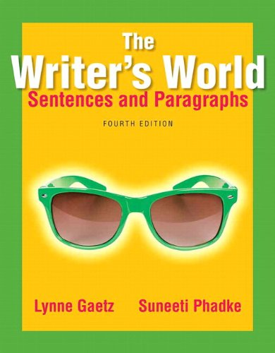 9780321964045: The Writer's World: Sentences and Paragraphs