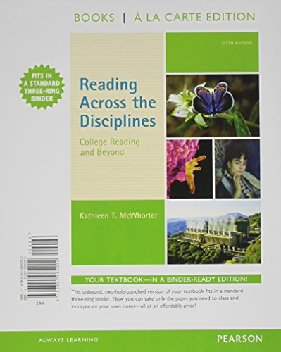 9780321965202: Reading Across the Disciplines: College Reading and Beyond, Books a la Carte Edition (6th Edition)