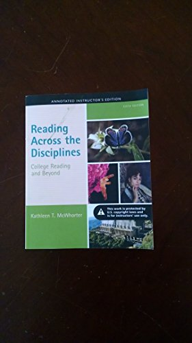 9780321965325: Reading Across the Disciplines College Reading and Beyond Annotated Instructor's Edition Sixth Edition