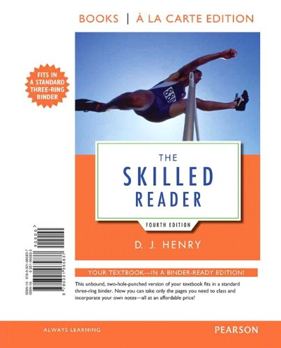 9780321965837: The Skilled Reader, Books a la Carte Edition (4th Edition)