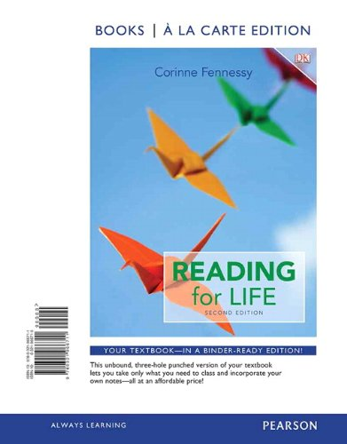 9780321966711: Reading for Life, Books a la Carte Edition (2nd Edition)