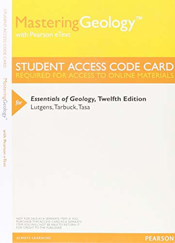 9780321966865: MasteringGeology with Pearson eText - Valuepack Access Card - For Essentials of Geology