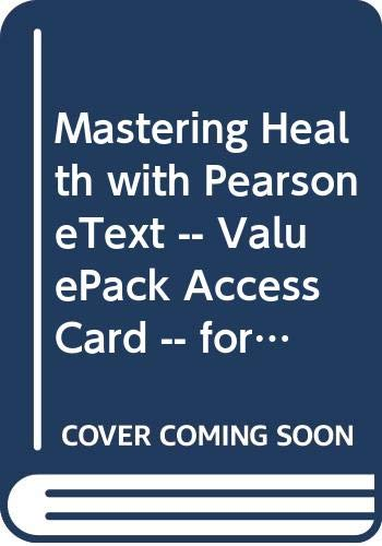 9780321967343: MasteringHealth with Pearson eText - Valuepack Access Card for Health: Making Choices for Life
