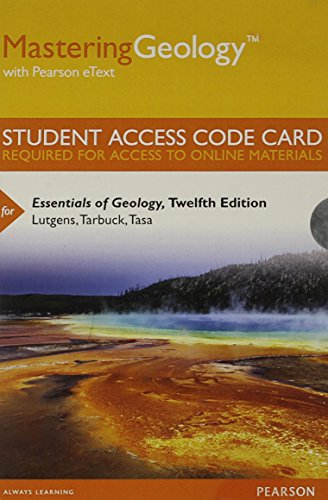 9780321967510: MasteringGeology with Pearson eText -- Standalone Access Card -- for Essentials of Geology (12th Edition)