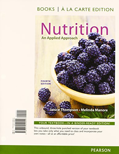 9780321969187: Nutrition: An Applied Approach, Books a la Carte Plus MasteringNutrition with MyDietAnalysis with eText -- Access Card Package (4th Edition)