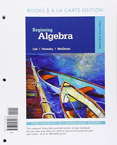 9780321969477: Beginning Algebra, Books a la Carte Edition (12th Edition)
