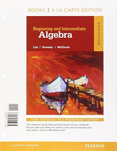 9780321969538: Beginning and Intermediate Algebra, Books a la Carte Edition (6th Edition)