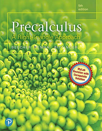 9780321969552: Precalculus: A Right Triangle Approach (5th Edition)