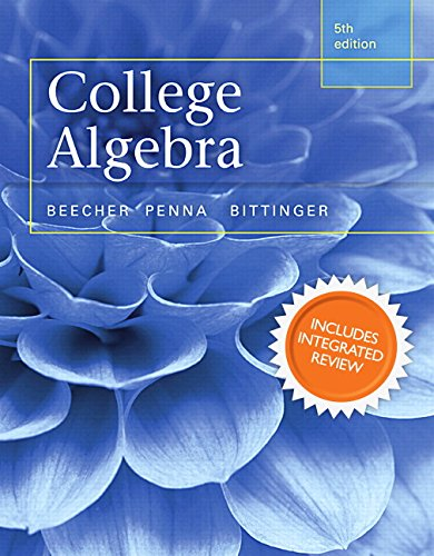 9780321969583: College Algebra with Integrated Review and Worksheets plus NEW MyMathLab with Pearson eText-- Access Card Package (5th Edition) (Integrated Review Courses in MyMathLab and MyStatLab)
