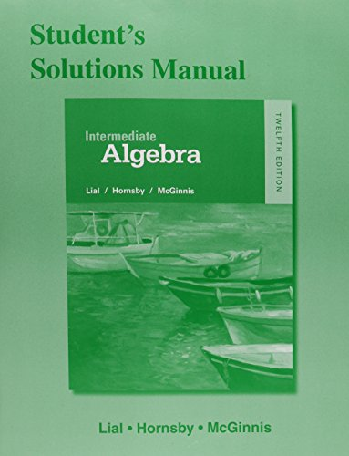 9780321969613: Student Solutions Manual for Intermediate Algebra