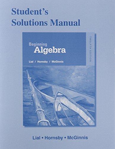 9780321969811: Student's Solutions Manual for Beginning Algebra