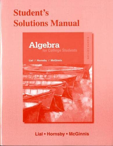 9780321969828: Student's Solutions Manual for Algebra for College Students