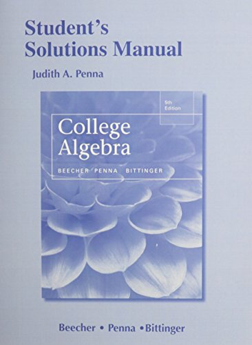 9780321969958: Student's Solutions Manual for College Algebra